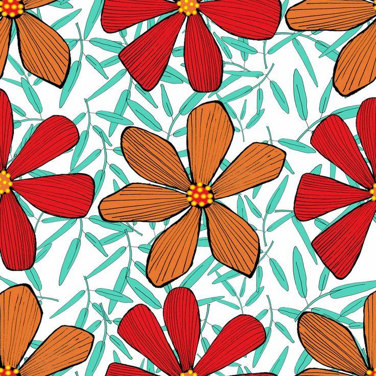 Diseño textil flores
