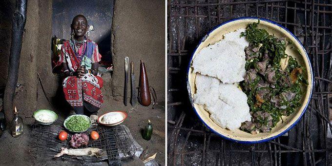 Φωτο-ταξίδι γεύσεων σε όλο τον κόσμο με σεφ... γιαγιάδες!  Κένυα, Mboga & Orgali (πολέντα από λευκό αλεύρι με λαχανικά και κατσικίσιο κρέας)