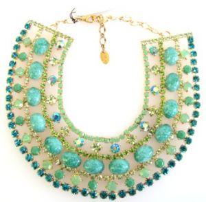 Green mix Krystal London necklace