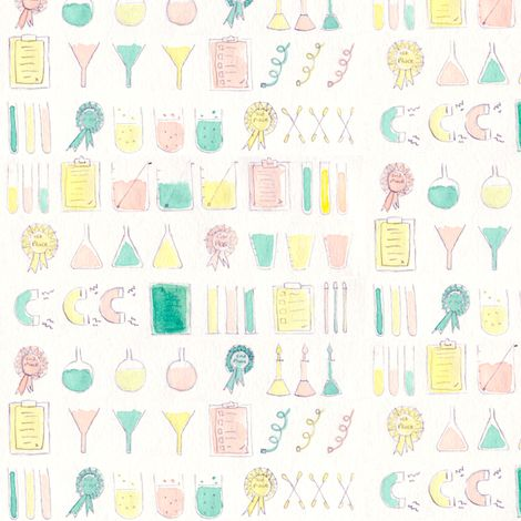 science madness fabric by t-w-i-n-k-l-e on Spoonflower - custom fabric