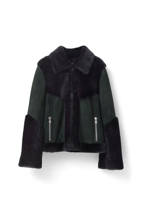 Ganni New Arrivals   Emerson Shearling Jacket, Pine Grove