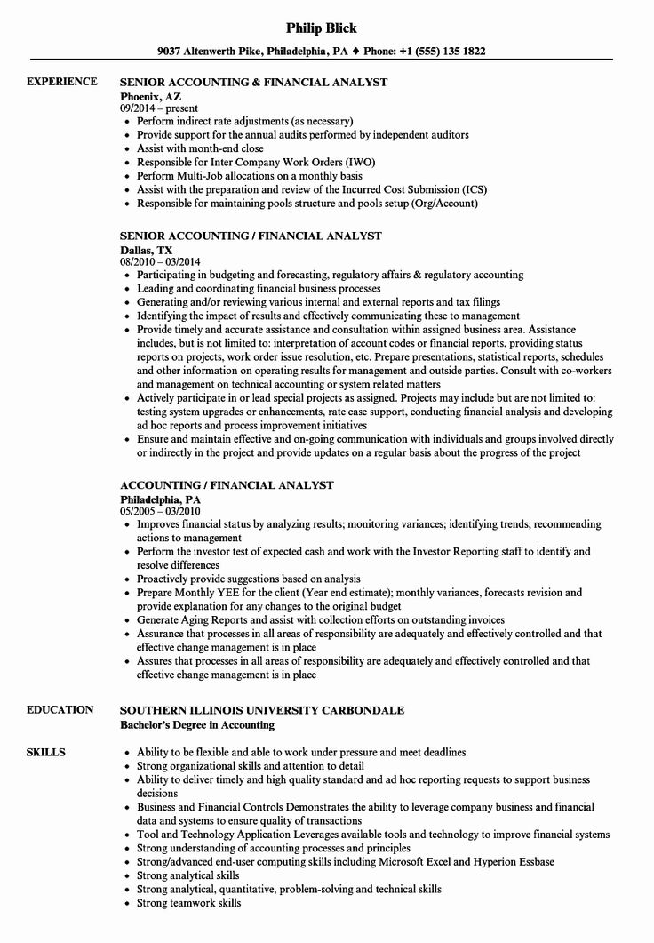 23 Financial Analyst Resume Examples (2020) Financial