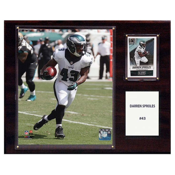 C and I Collectables NFL 15W x 12H in. Darren Sproles Philadelphia Eagles Player Plaque - 1215SPROLES
