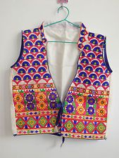 Indian Koti Jacket Tribal Vintage Hippy Festive Dance Handmade Gypsy Kutch Top