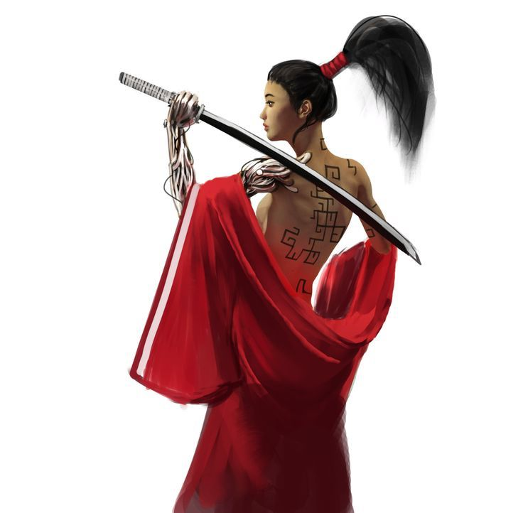 25+ best ideas about Katana girl on Pinterest | Cyborg definition, Anime art and Female ninja