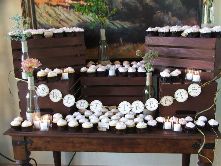 How cupcakes table will look. - By Christine's Cake Creations.