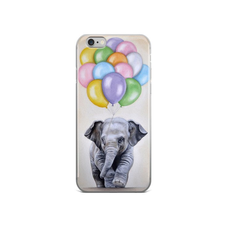 Elephant iphone case,  iPhone 5, iPhone 5S, iPhone 5 SE, elephant iPhone6/ 6S, elephant  iPhone6 / 6S Plus,  animal phone case,  balloons by MimoCadeaux on Etsy https://www.etsy.com/listing/384940848/elephant-iphone-case-iphone-5-iphone-5s