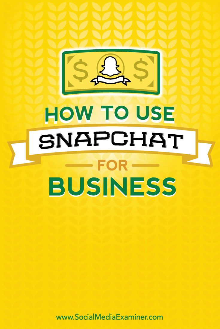 Been wanting something like this for a while :)  Re: How to use snapchat for business.