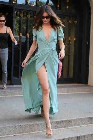 Long dress mint zelena