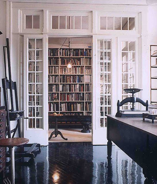 french door library