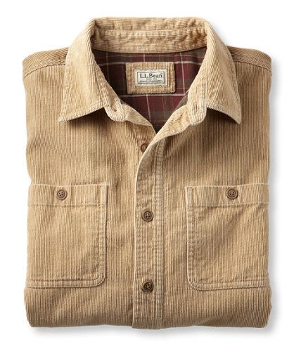 Bean 39 s flannel lined shirt corduroy twig for Ll bean wrinkle resistant shirts