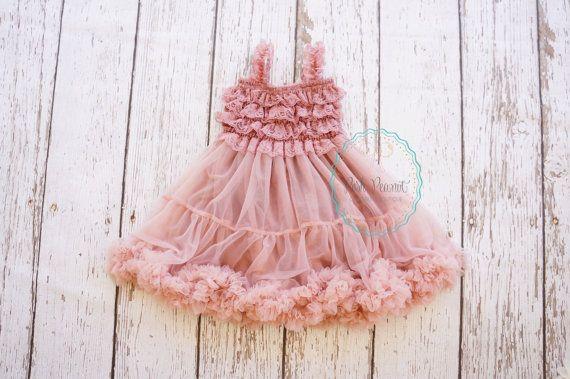 bambino vestito fiore ragazza vestito polveroso di PoshPeanutKids