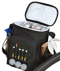 Amazon.com : PrideSports Cooler Bag - Holds 12 Cans with Reusable Ice Pack : Golf Bag Accessories : Sports & Outdoors