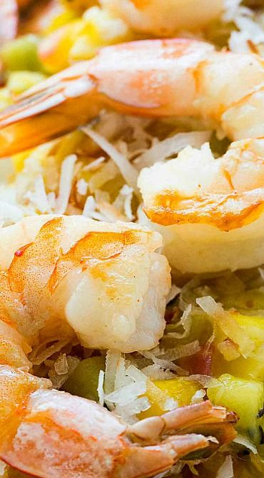 Sautéed Shrimp with Warm Tropical Fruit Salsa