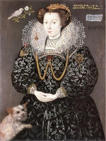 Elizabeth Brydges, later Kennedy at age 14, 1589 (Heironimo Custodis) (fl. 1589-1598) Location TBD: