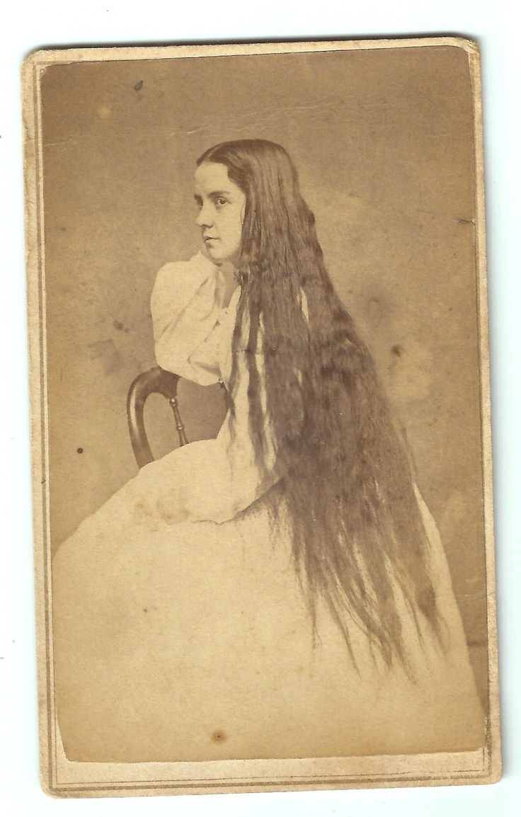 Young Girl with Very Long Hair
