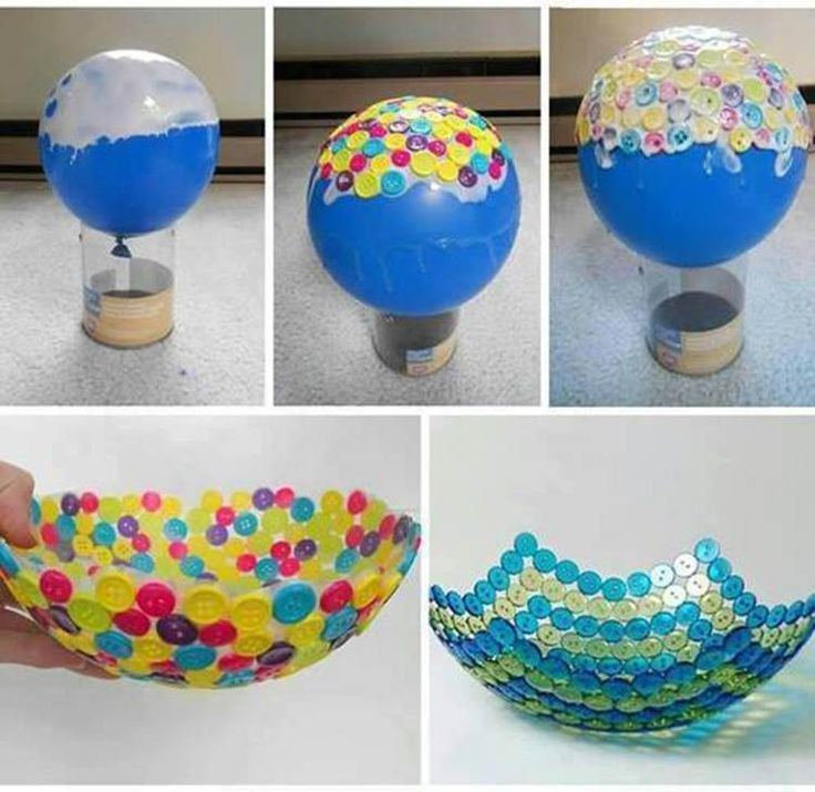 DIY cute button bowls--> http://wonderfuldiy.com/wonderful-diy-cute-button-bowl/ #diy #buttoncrafts