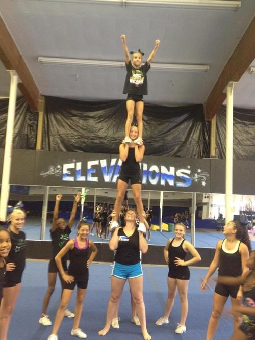 ya'll need more spotters... but seriously impressed #cheer #cheerleading #stunt #sport