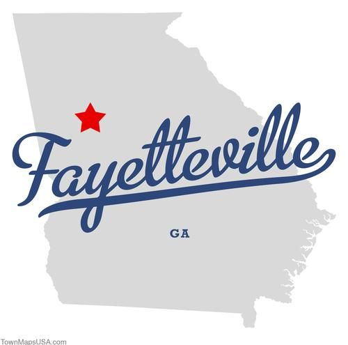 Image detail for -Map of Fayetteville Georgia GA