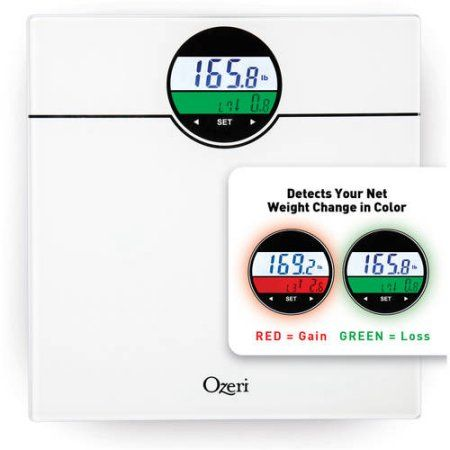 Ozeri WeightMaster 400 lbs Digital Bath Scale with BMI and Weight Change Detection, White