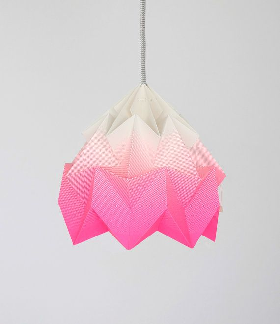 Moth origami lampshade gradient pink | nellianna