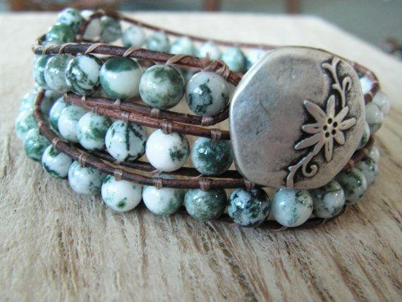 bohemian bracelet ~ love the flower pendant!