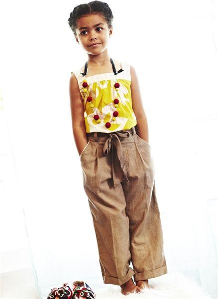 Paperbag Waist Pants: Kids Style, Minis Fashionistas, Kute Kiddo, The Collars, Waist Pants, Paperbag Waist, Kids Clothing, Kids Temp, Brown Girls