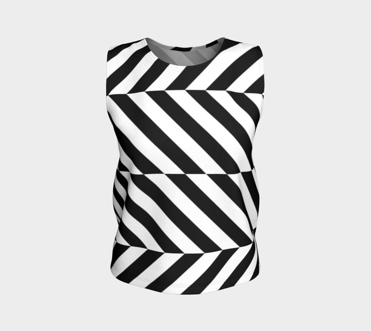 "Loose+Tank+Top+""Stripes+Stripes+Stripes""+by+M-I-C-U"