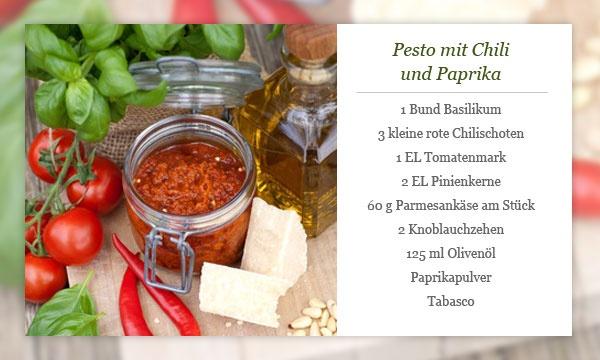 Rezept - Pesto mit Chili und Paprika