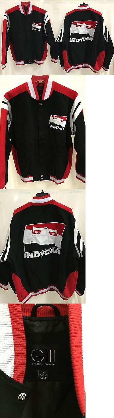 Racing-Indy 1228: Indy Car Racing Black Twill Jacket -> BUY IT NOW ONLY: $149.99 on eBay!