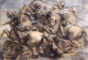 The Battle of Anghiari (detail) 1503-05  by Leonardo Da Vinci