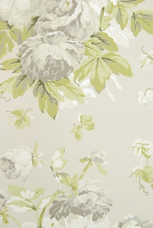 Garden Peony Wallpaper A Taupe Wallpaper With Large Floral
