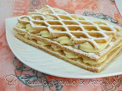 Testado, Provado e Aprovado!: MASSA FOLHADA CASEIRA & MIL FOLHAS - Desafio Daring Bakers - Outubro / 2012