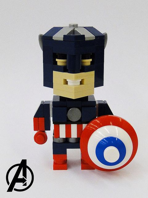 Captain America Cube Dude | Marvel Avengers Cube Dudes conti… | Flickr - Photo Sharing!