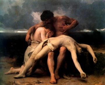 Bouguereau's 1888 painting Premier Deuil