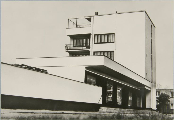 rosswolfe:  Lionel Feininger, photo of Walter Gropius' Bauhaus building in Dessau, 1928. (via thecharnelhouse.o...)