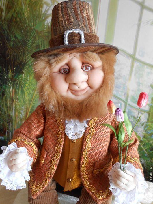 Коллекционные куклы ручной работы. Гном Голландец  (текстильная кукла). ЗОЯ ХОЛИНА. Ярмарка Мастеров. Гномы, кукла интерьерная, текстиль
