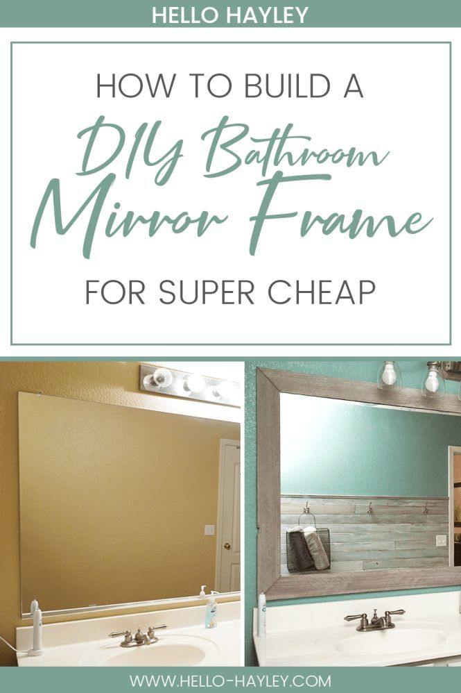 Follow this easy guide to make your own DIY bathroom mirror frame ...
