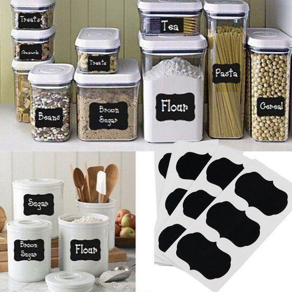 Chalk Board Labels Chalkboard Food Labels Blackboard Water Etsy