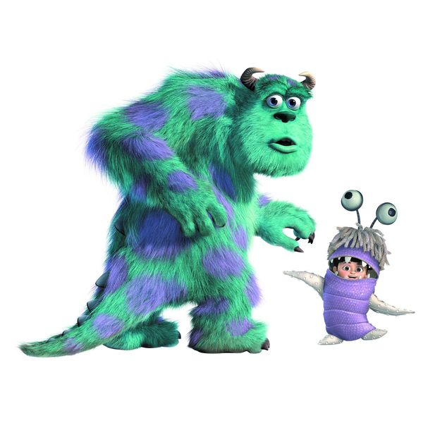 Monsters Inc Giant Sully and Boo Peel and Stick Wall Decals ...