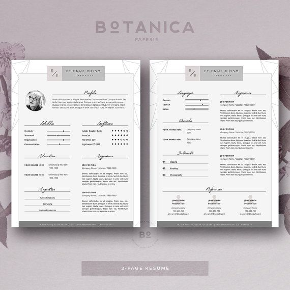 133 best + resume templates images on Pinterest Feminine, Art - fashion resume template