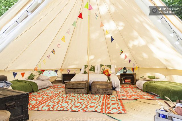 Amber's Bell Tent Camping in Norfolk - Get $25 credit with Airbnb if you sign up with this link http://www.airbnb.com/c/groberts22
