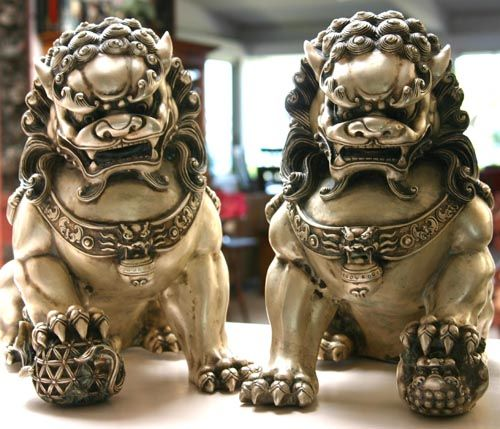 Foo Dogs: Half dog, half lion, the mythical Foo dog appears as a temple guardian in China. Description from pinterest.com. I searched for this on bing.com/images