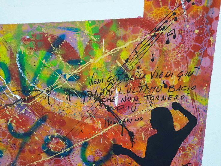 Particolare del murale a Badalucco