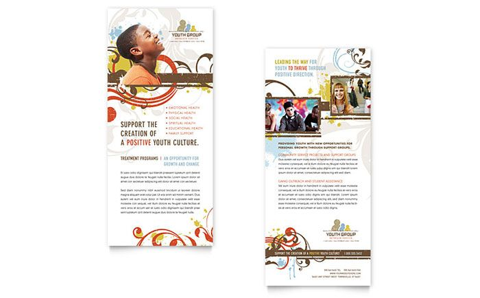 Church Youth Group Rack Card Template Design By Stocklayouts
