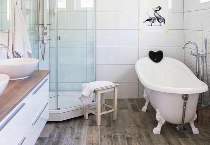 Love the floor tiles - looks like wood