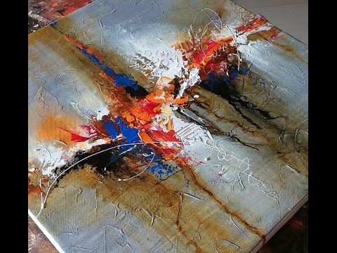 Acrylic abstract painting / Abstract painting / Demonstration /Art - YouTube