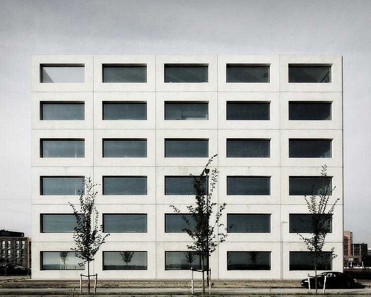 Office building on IJburg by Claus en Kaan ArchitectenClause En, Offices Buildings, Panels Add, Glasses Panels, Stark Minimal, Kaan Architecten, Office Buildings, En Kaan, Architecture Details