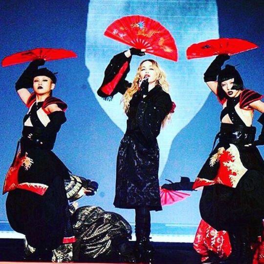 """Aya and Bambi San…….,,,,,,,,,till we die!!!!!!! #bitchimmadonna ❤️ #rebelhearttour"" -Madonna"