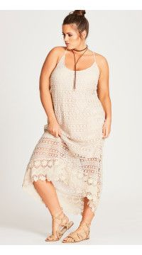 Crochet Cool Plus Size Dress